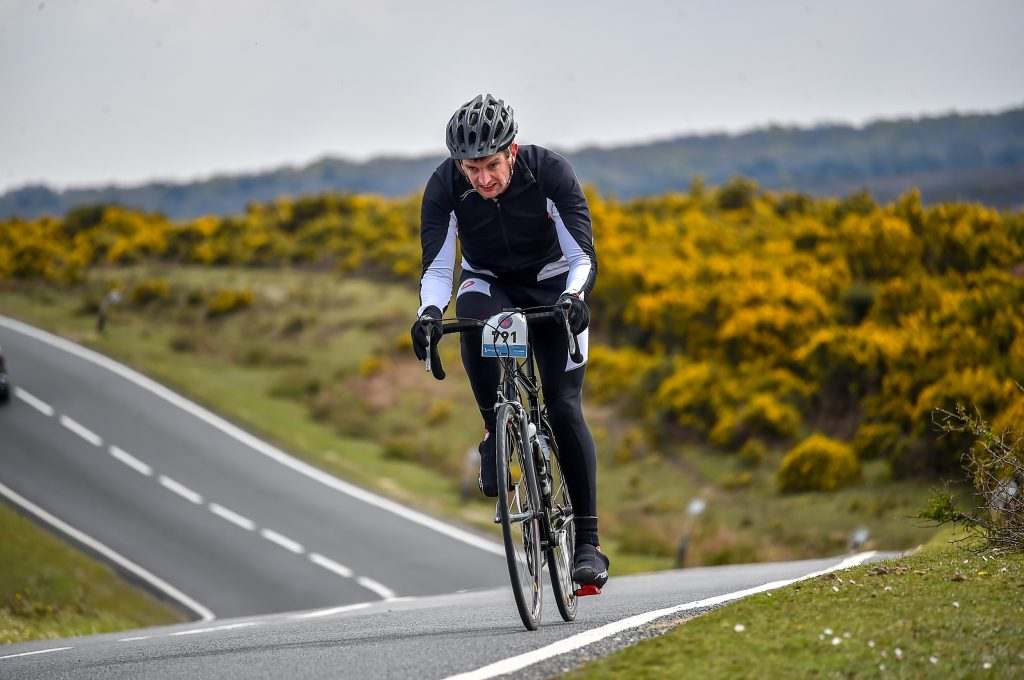 Tim Quickenden Competing in Cycling Race in Hampshire